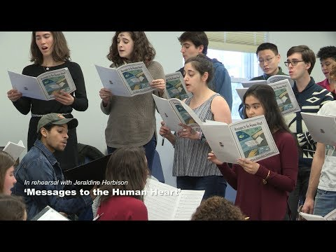 In rehearsal with Jeraldine Herbison: 'Messages to the Human Heart'