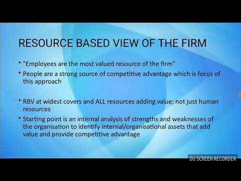 Resource Based View of the Firm