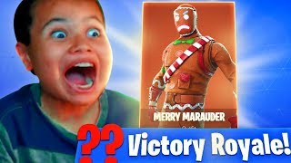 IF MY 10 YEAR OLD LITTLE BROTHER WINS THIS GAME HE GETS THE GINGERBREAD! FORTNITE MOST INTENSE GAME!