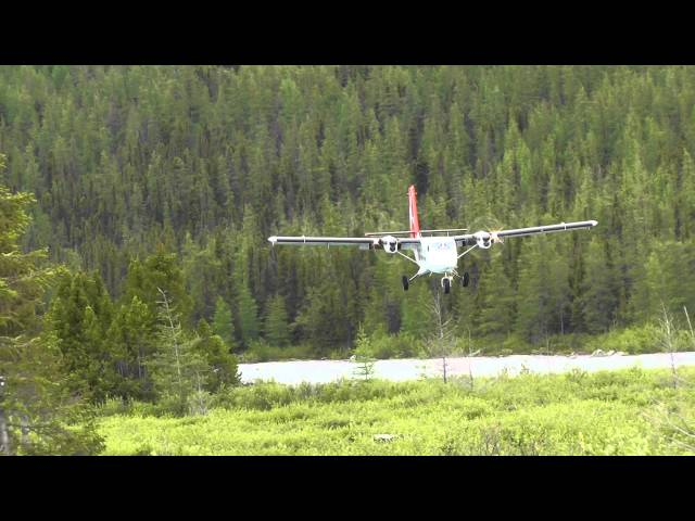 Twin otter landing at Barnoin camp. 2