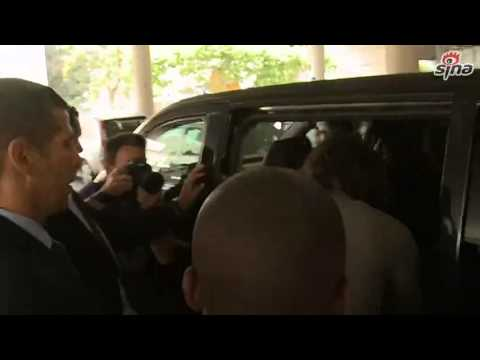 Edinson Cavani was in Paris to finalise his transfer to Paris Saint Germain_16/07/2013