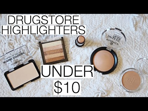 TOP 5 Drugstore Highlighters UNDER $10!