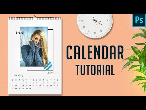 How To Create A Calendar 2020 In Photoshop   Free Template   PE36