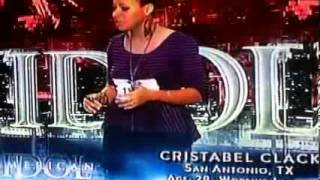 [HD] American Idol 2013 Episode 5 - San Antonio Auditions - Cristabel Clack (January 30 2013)