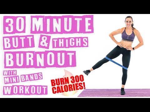 30 Minute Butt And Thighs Burnout With Mini Band Workout 🔥Burn 300 Calories! 🔥