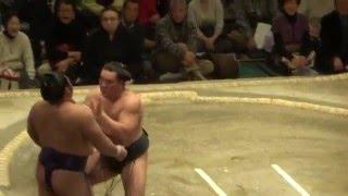 20160119 大相撲初場所10日目 日馬富士 vs 栃煌山.