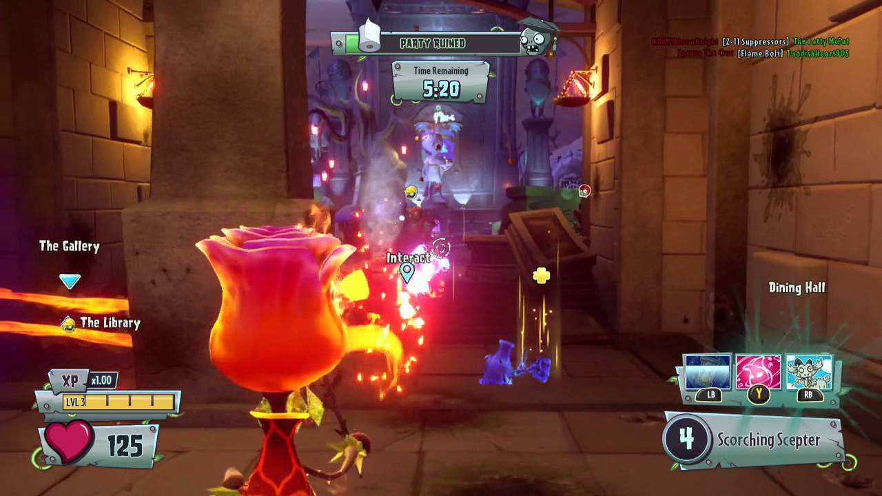 Plants Vs Zombies Garden Warfare 2 Fire Rose Play Amazing Variant You
