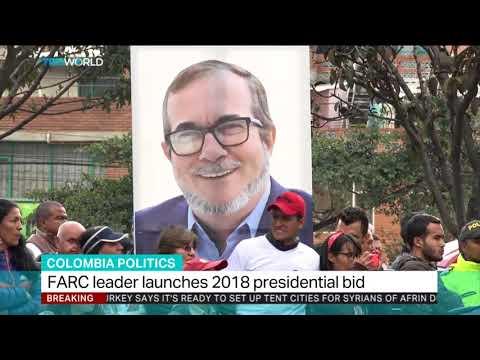 FARC leader launches 2018 presidential bid