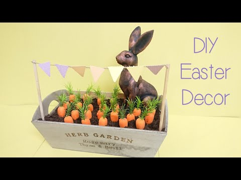Bunny Rabbit Farmhouse Easter/Spring DIY Decor | Poundland / Dollar Tree Crafts Ideas