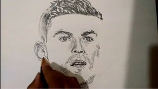 Speed drawing of Cristiano Ronaldo | Drawing of Cristiano Ronaldo
