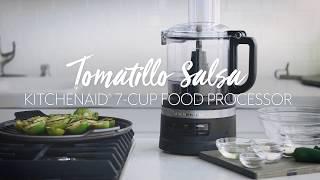 Tomatillo Salsa in the KitchenAid Food Processor Plus