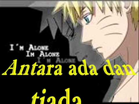 Utopia-Antara ada dan tiada(acoustic) with lyric and naruto slide by eL.wmv