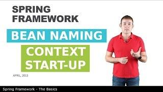 Именование бинов и старт контекста - 3 - The Basics of Spring Framework