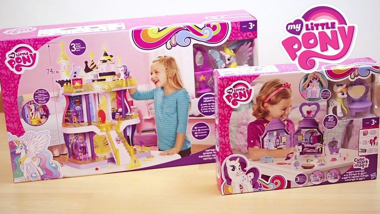 Letto A Castello Tre Piani.My Little Pony Castello Di Canterlot Boutique Rarity Italiano
