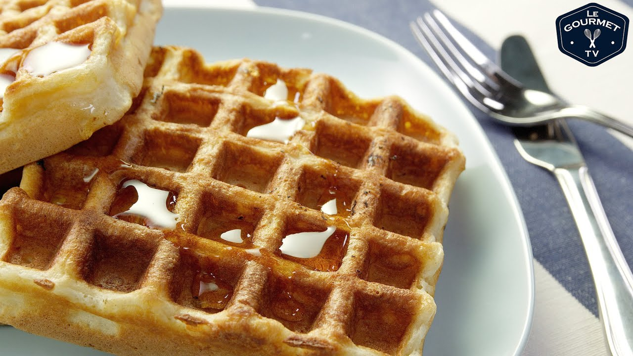 Classic Waffles || Le Gourmet TV Recipes - YouTube
