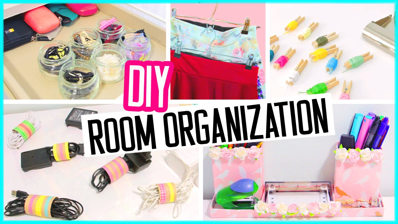 diy room organization hacks low cost desk and room decor spring cleaning youtube. Black Bedroom Furniture Sets. Home Design Ideas