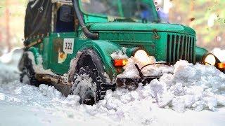 Жесть в мокром снегу. Toyota Prado, Нива, Газ-69, Subaru Forester. Off-Road