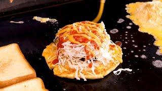 Cheese Bacon Toast - Korean street food