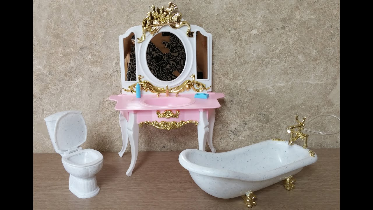 Gloria Bathroom Play Set for Doll Furniture