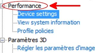 Nvidia avoir l'onglet performance (OC + Cooling) - Performance device settings