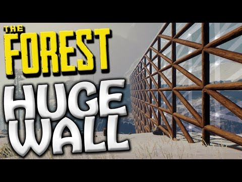 The Forest - THE GREAT WALL TO OUR CASTLE BASE! - Update 0.52 Gameplay - S2 EP32