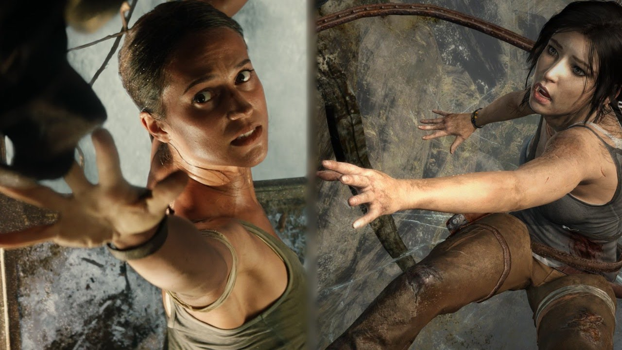 Tomb Raider: Game vs. Movie Comparison – Parachute Escape