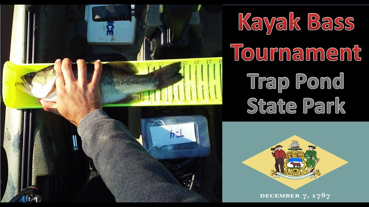 Trap pond kayak bass tournament youtube for Kayak bass fishing tournaments