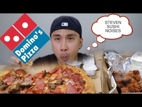 MUKBANG: EAT LIKE STEVEN SUSHI CHALLENGE DOMINOS PIZZA