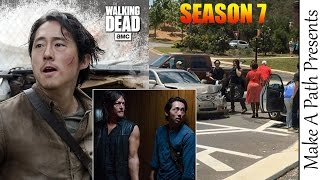 Filming Season 7 The Walking Dead Car Crash Proof they Survive Negan?