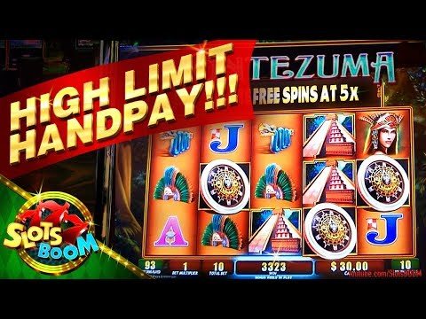 109 SPINS HIGH Limit JACKPOT!!! MONTEZUMA Wms Slot -  San Manuel Casino