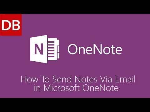 OneNote For Mac | How to Send Notes 1 Minute Tutorial