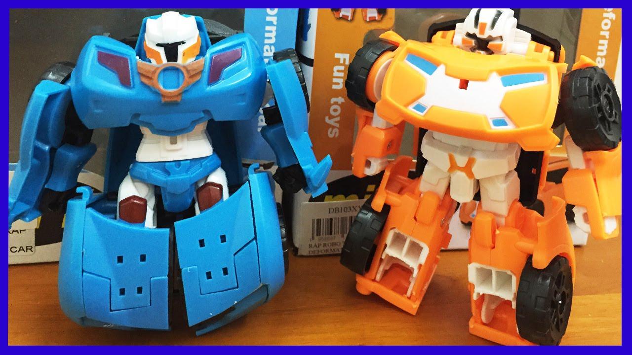 Đồ chơi Tobot X và Tobot Y biến hình thành xe hơi, phim hoạt hình tobot (Chim Xinh)