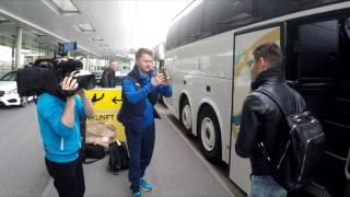 Приїзд національної команди України на збір до Австрії