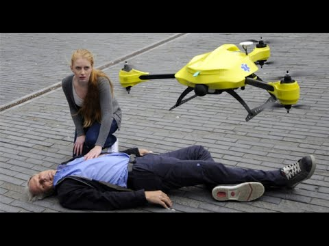 Grad Student Invents Flying Ambulance Drone To Deliver Emergency Shocks