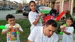 Slime Prank on My Dad! Family Fun Video