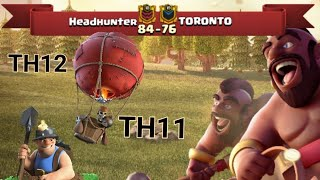 Cw Recap | Headhunter vs. TORONTO | Th11/Th12 3 Star Fights | Clash of Clans