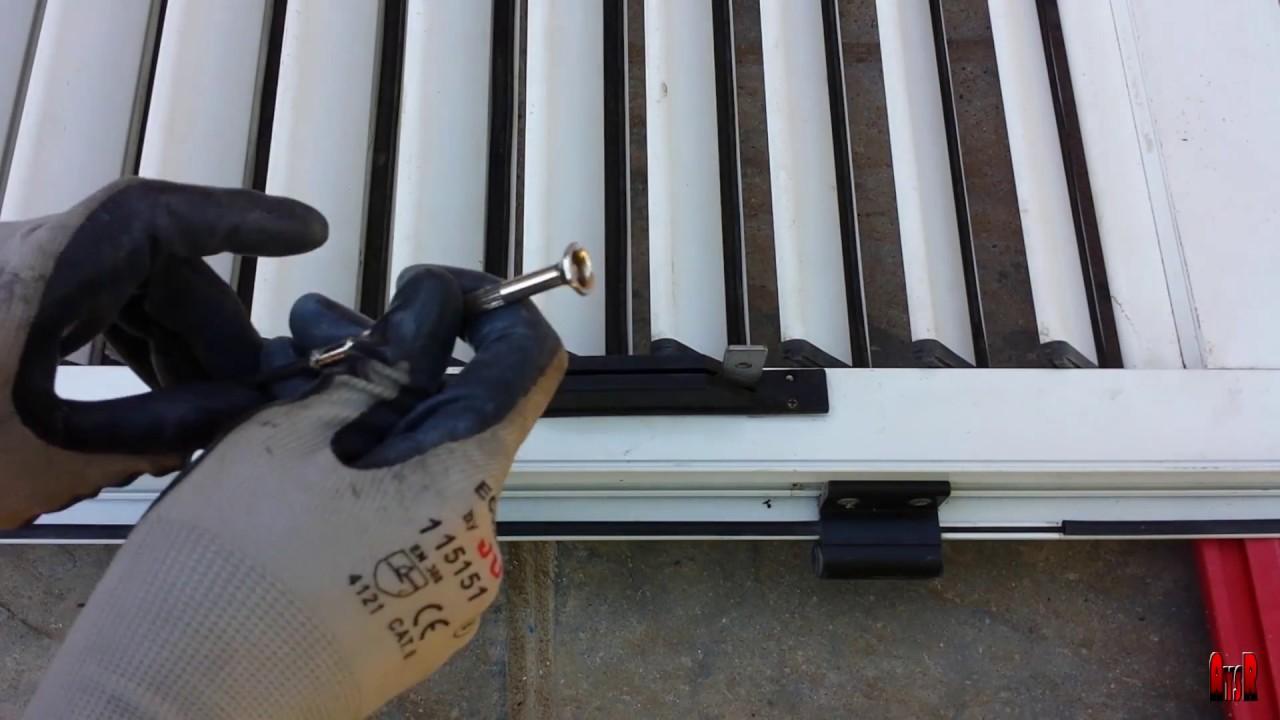 Reparar contraventana de lamas móviles que no se mueven - YouTube