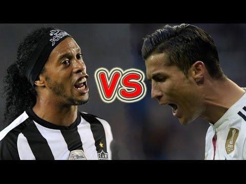 Download Ronaldinho vs Cristiano Ronaldo Freestyle Skills ● Crazy Tricks Ever.