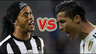 Ronaldinho vs Cristiano Ronaldo Freestyle Skills ● Crazy Tricks Ever.