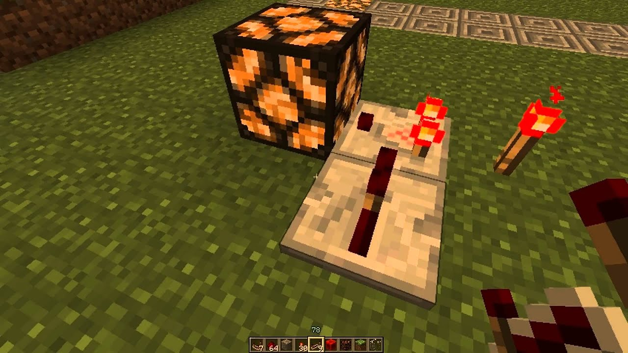 Redstone Circuit How To Make A Pulsing Redstone Circuit Youtube