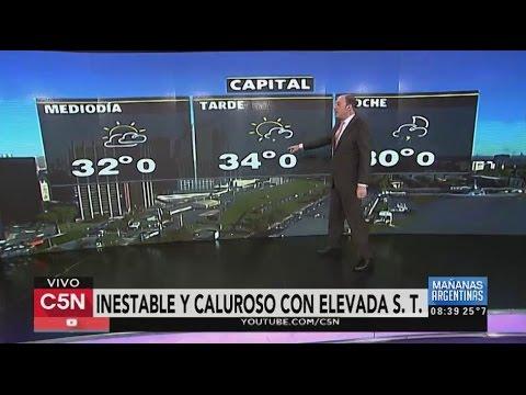 C5N - El Tiempo: Pronóstico en Buenos Aires 16/02/2016