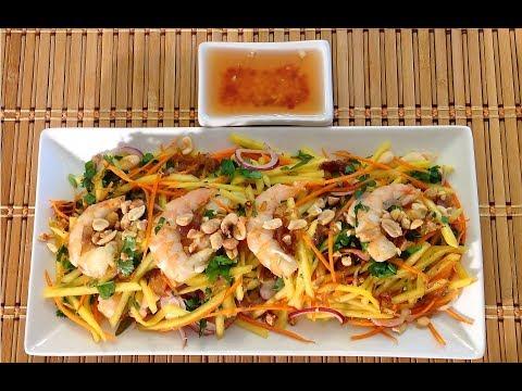 How To Make Vietnamese Green Mango Salad-Asian Food Recipes