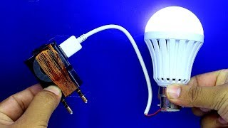 Free Energy using Mobile Charger - 100% Free Energy Science Project