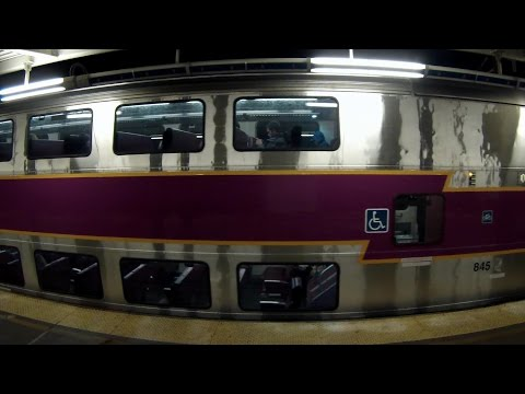 """Fast MBTA Commuter Trains at """"The Route"""" [GoPro Hero3]"""