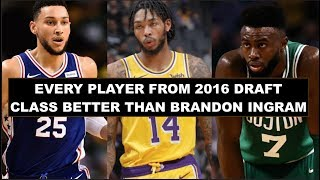 Every Player Better Than Brandon Ingram From The 2016 Draft Class