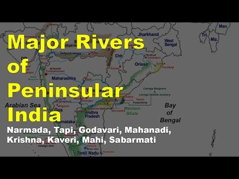 Peninsular Rivers of India | Geography UPSC, IAS, NDA, CDS, SSC CGL