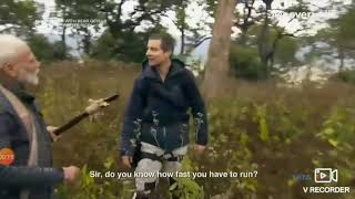 When Bear Grylls tried a bad joke with PM Modi ||😂😂