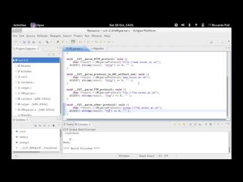 Test-driven development (TDD) in C using Eclipse and CUT (C Unit Testing)