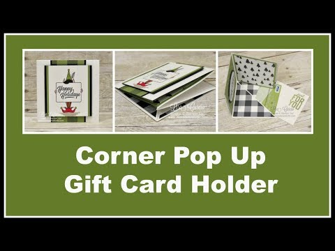 Corner Pop Up Gift Card Holder