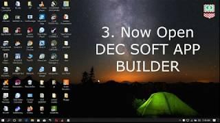 DEC सॉफ्ट ऐप बिल्डर का उपयोग करके मोबाइल ऐप डेवलपमेंट screenshot 1